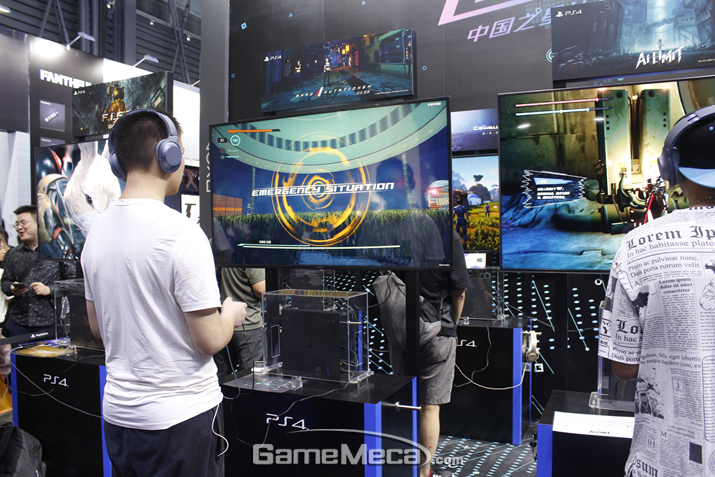 차이나 프로젝트라는 설명이 없다면, 중국에서 만들어진 게임인 지 모를 고퀄리티 게임들이 다수 있다 (사진: 게임메카 촬영)