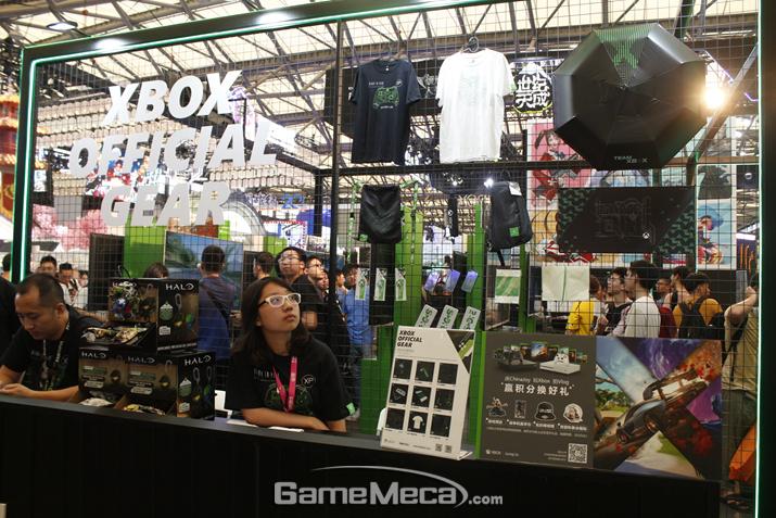 Xbox 공식 상품들을 파는 듯 하다 (사진: 게임메카 촬영)