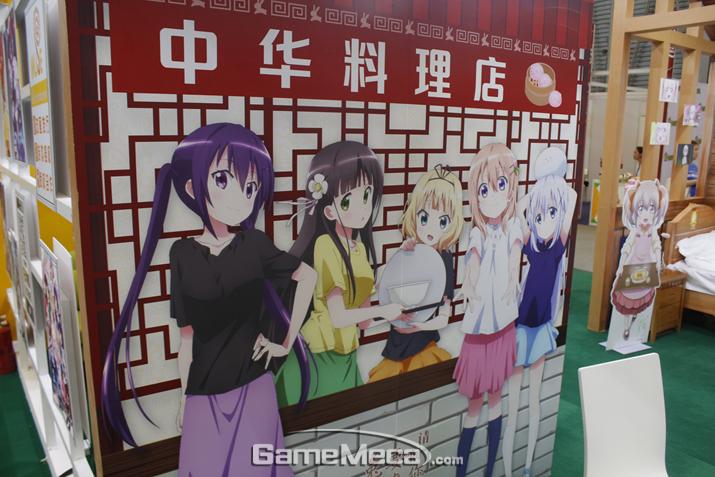 일본 애니메이션과 게임 IP를 잔뜩 소개하는 부스도 다수 존재했다