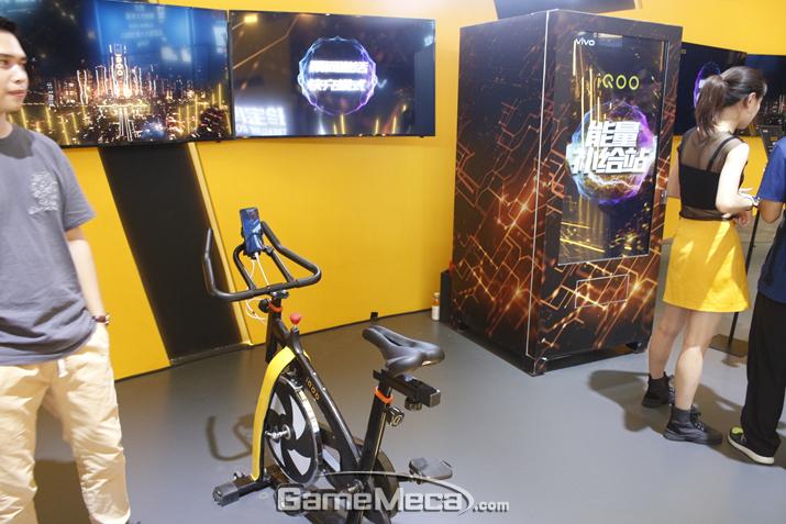 자전거와 결합된 게임부터 (사진: 게임메카 촬영)