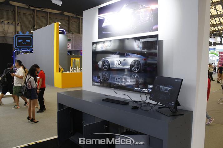 중국에서 인기 있다는 레이싱 게임도 보인다 (사진: 게임메카 촬영)