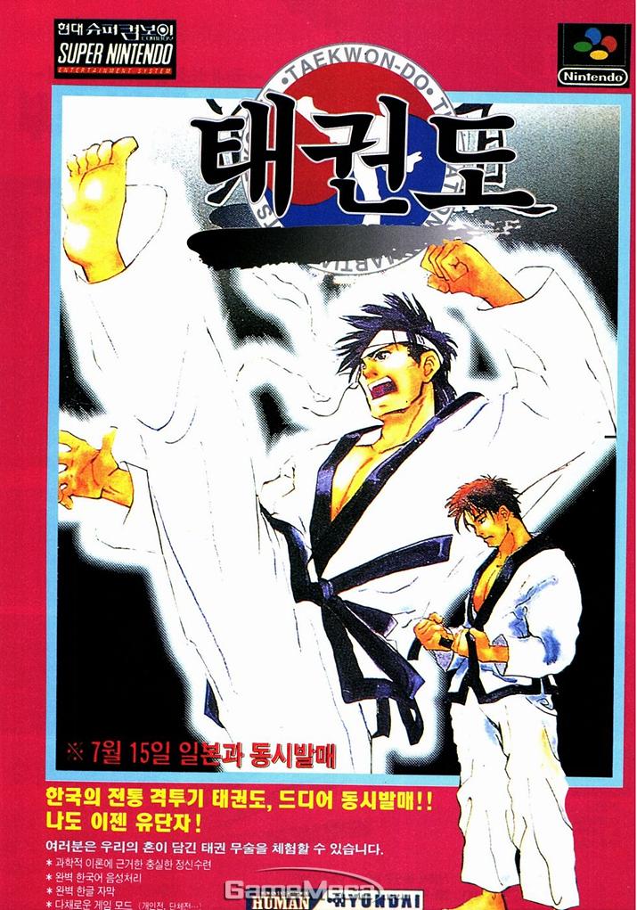슈퍼패미콤으로 출시된 '태권도' (사진출처: 게임메카 DB(