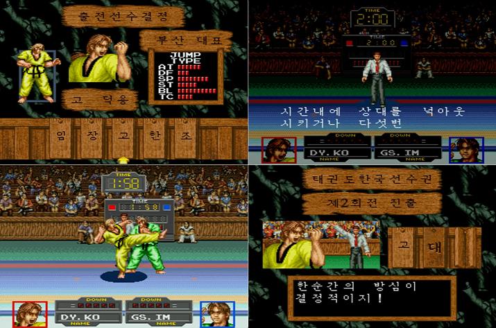 '태권도' 게임 화면 (사진출처: 유튜브 Balmung Kim 채널 갈무리)