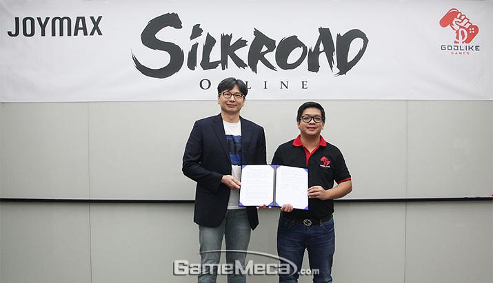 '실크로드 온라인' 태국 서비스 계약 현장 (사진제공: 조이맥스)