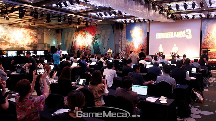 한국에서 열린 '보더랜드 3' 발표회 현장 (사진: 게임메카 촬영)