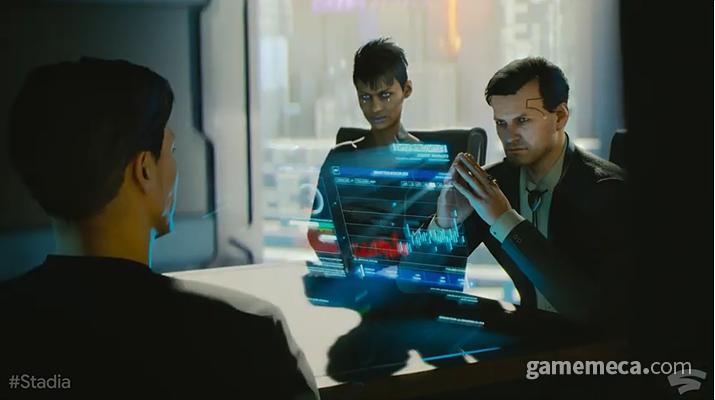 스태디아로 출시되는 '사이버펑크 2077' (사진출처: 개발자 다이어리 영상 갈무리)