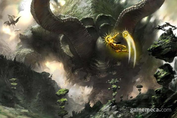 '모탈렐름'의 거대한 토착 괴수를 굴복시키는 '시그마' (사진출처: 게임즈 워크샵 공식 홈페이지)