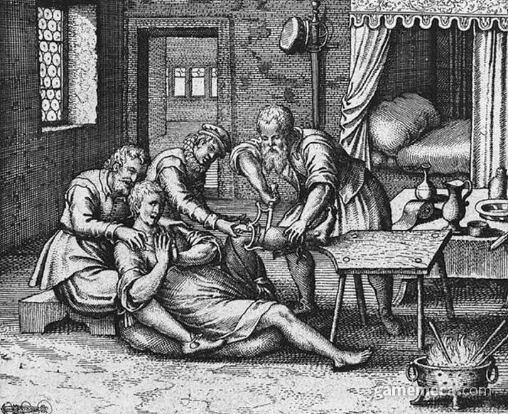 환자의 다리를 얼마나 빨리 자르느냐가 힐러의 유능함을 나타내지! (사진출처: de.m.wikipedia.org)