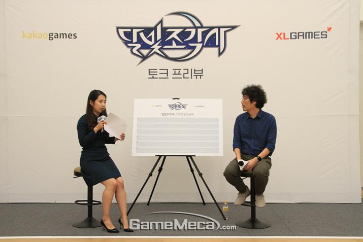 송재경 PD와 게임에 대한 이야기를 나눌 수 있었다 (사진: 게임메카 촬영)