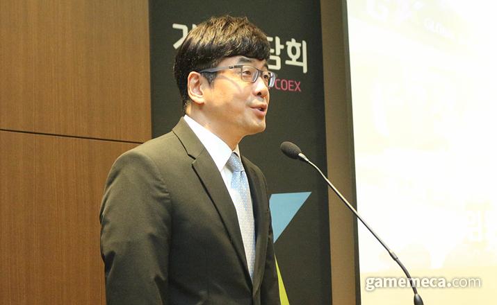 지스타조직위원회 강신철 위원장 (사진: 게임메카 촬영)