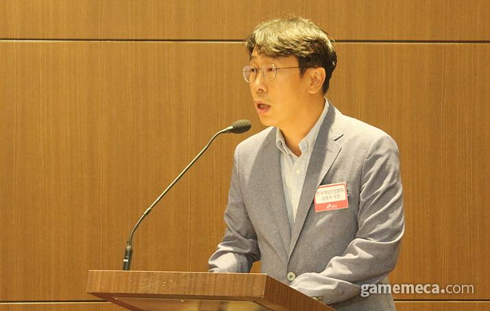 한국게임산업협회 김용국 사업국장 (사진: 게임메카 촬영)