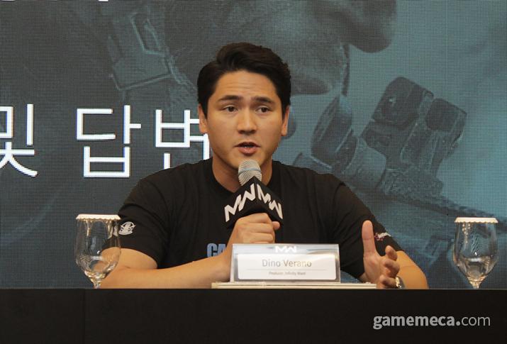 인피니티 워드의 디노 베라노 디렉터 (사진: 게임메카 촬영)