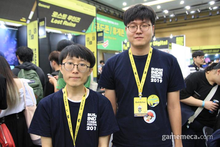 왼쪽부터 팀 오파츠의 백종원, 서병기 씨 (사진: 게임메카 촬영)