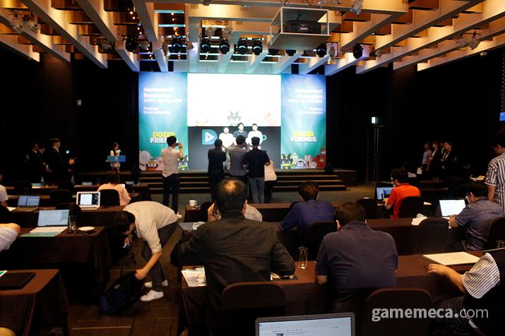 17일 열린 블록체인 게임 플랫폼 '플레이댑' 사업설명 기자간담회 (사진: 게임메카 촬영)