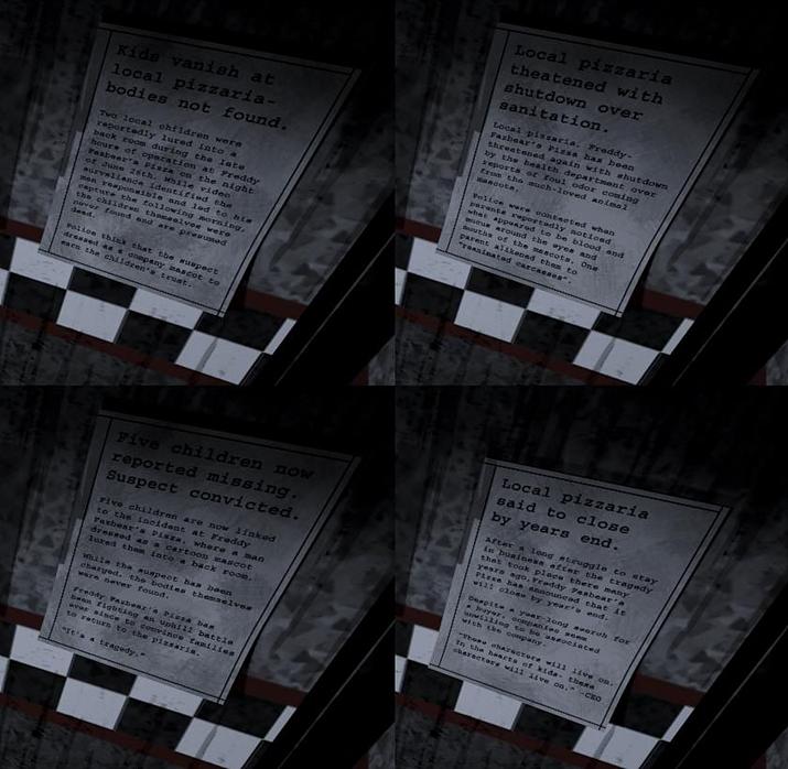 이따금 환각으로 나타나는 과거의 실종 사건 스크랩 (사진출처: evil.fandom.com)