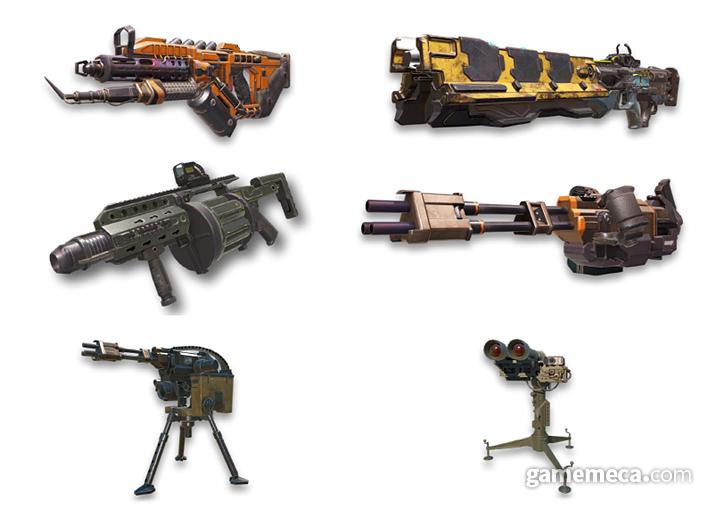 다양한 게임 내 무기 스킬들 (사진출처: 공식 홈페이지)