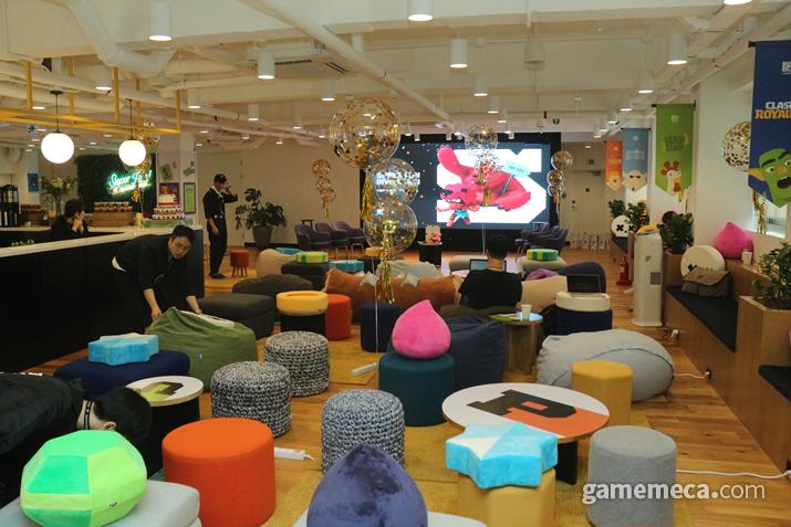 슈퍼셀 라운지 (사진: 게임메카 촬영)