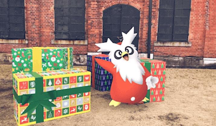 크리스마스 시즌 한정, 펭수 부럽지 않은 인기의 딜리버드 (사진출처: pokemongo.gamewith.jp)