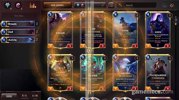 처음부터 다양한 카드가 등장하는 것도 난이도를 높이는 주범이라면 주범이다 (사진출처: 게임 공식 소개 영상 갈무리)