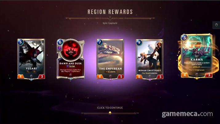 카드를 구하는 것이 다른 게임에 비해 월등히 쉽다는 것도 장점이다 (사진출처: 게임 공식 소개 영상 갈무리)