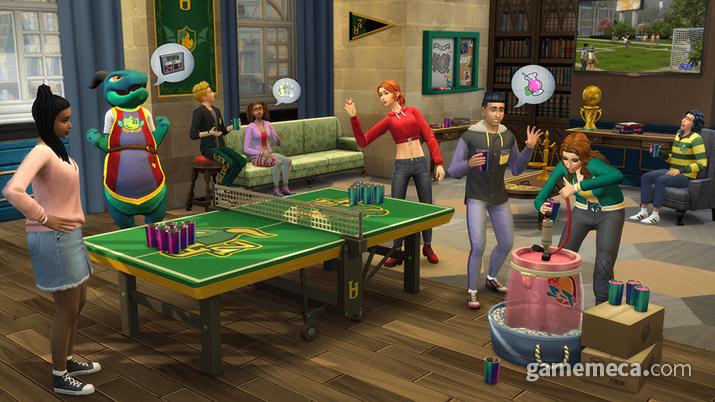 '심즈 4: 캠퍼스 라이프' 대표 스크린샷 (사진출처: 게임 공식 홈페이지)