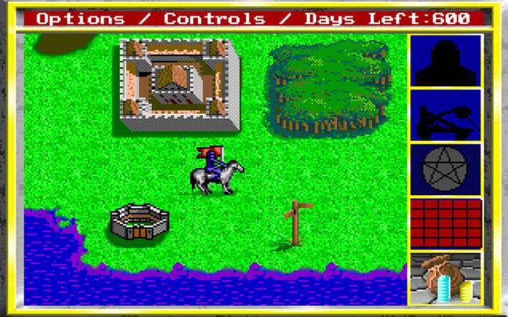 '킹스 바운티' 플레이 화면 (사진출처: Abandonware)