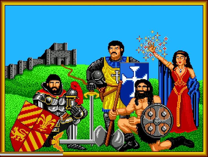 '막시무스 왕'이 네 개의 대륙에서 모은 네 명의 영웅들 (사진: 게임 내 영상 갈무리)