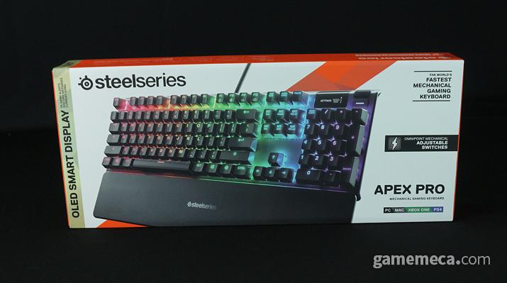 키감도 조절 가능한 기계식 키보드 '에이펙스 프로' (사진: 게임메카 촬영)