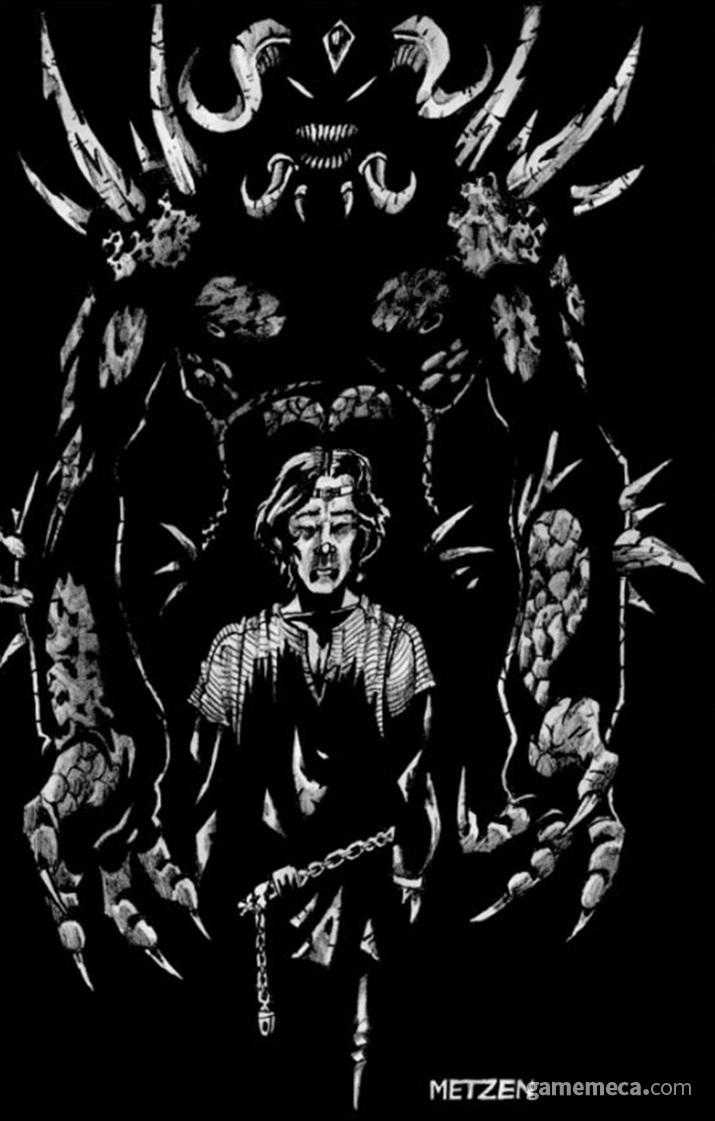 디아블로에게 타락해 몸을 빼앗기는 알브레히트 왕자 (사진출처: 디아블로 매뉴얼)