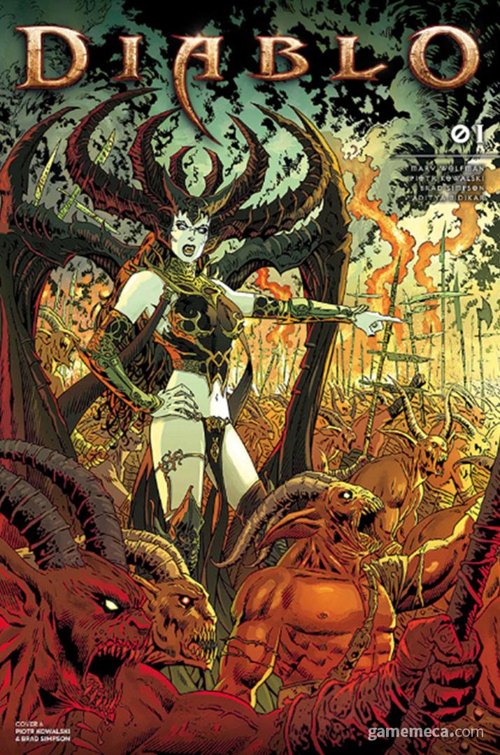 발간이 취소된 디아블로 만화에서 묘사된 릴리트 (사진출처: Titan Comics)