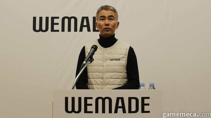 위메이드를 둘러싼 상황과 향후 계획을 설명한 장현국 대표 (사진: 게임메카 촬영)