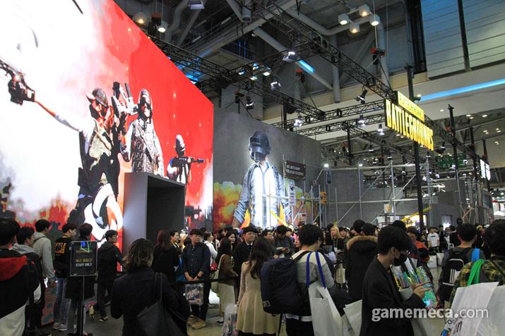 내부에서 '페이스: 펍지'라는 이름의 전시회를 열고 있었는데 (사진: 게임메카 촬영)