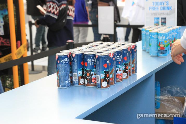 커피도 주고 (사진: 게임메카 촬영)