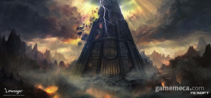 '오만의 탑' 때문에 오랜 군웅할거 시대가 시작됐다는 설정 (사진출처: 리니지 2 공식 홈페이지)