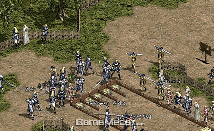 1998년 서비스를 시작한 MMORPG 리니지 (사진출처: 게임메카 DB)
