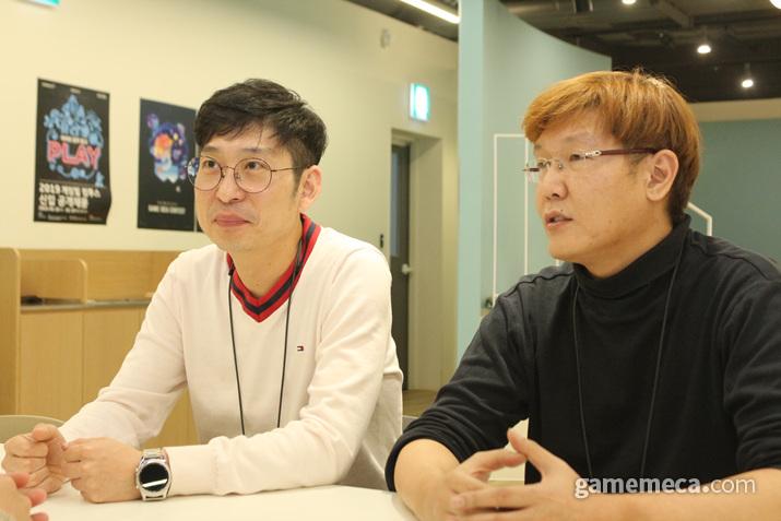 왼쪽부터 게임빌 이동원 PD, 김홍식 사업실장 (사진: 게임메카 촬영)