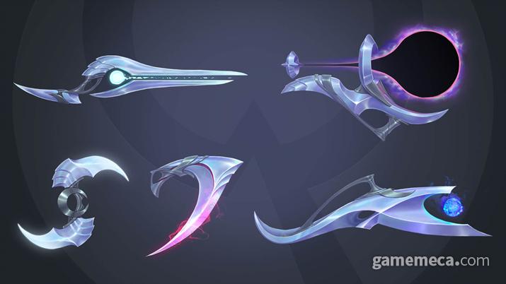 아펠리오스의 5가지 무기 (사진출처: 게임 공식 홈페이지)