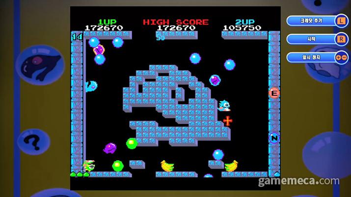 버블보블 4 및 게임 내에서 즐길 수 있는 원작 버블보블 스크린샷 (사진제공: 아크시스템웍스 아시아지점)