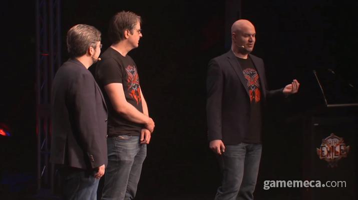 '패스 오브 엑자일 2'를 발표하고 있는 크리스 윌슨 (사진출처: 엑자일콘 공식 영상 갈무리)