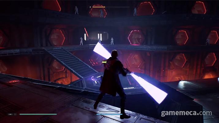 적들의 쏟아지는 총알 세례를 막는 것도 패링을 통해서 반사가 가능하다 (사진: 게임메카 촬영)