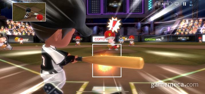 홈런 이펙트는 예전의 것이 더 나은 느낌이다 (사진: 게임메카 촬영)