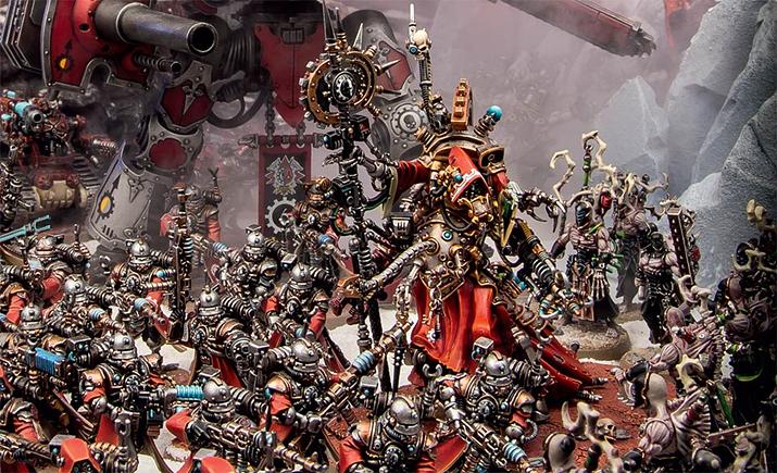 사실 기계교의 교리를 분석해 보면 기계는 태초 기계신의 의지가 깃든 피조물일 뿐이다 (사진출처: warhammer-community.com)