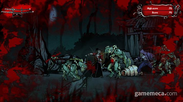 '무사시 vs 크툴루' 대표 스크린샷 (사진출처: 게임 공식 스크린샷)