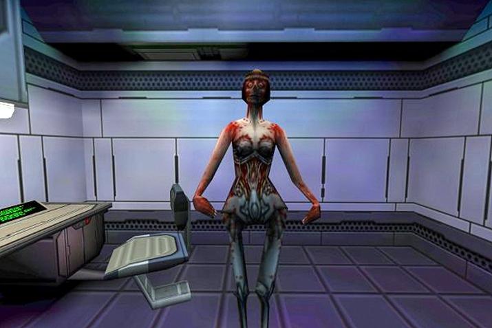 시스템 쇼크 2의 사이보그는 이런 그로테스크한 모습으로 등장한다 (사진출처: Play Archive)