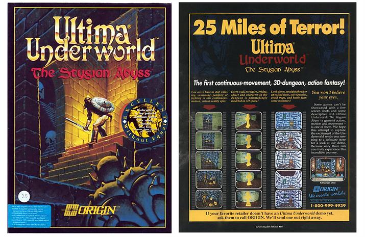 최초로 이머시브 심을 도입한 게임으로 알려진 울티마 언더월드: 스티지안 어비스 (사진출처: 위키피디아)