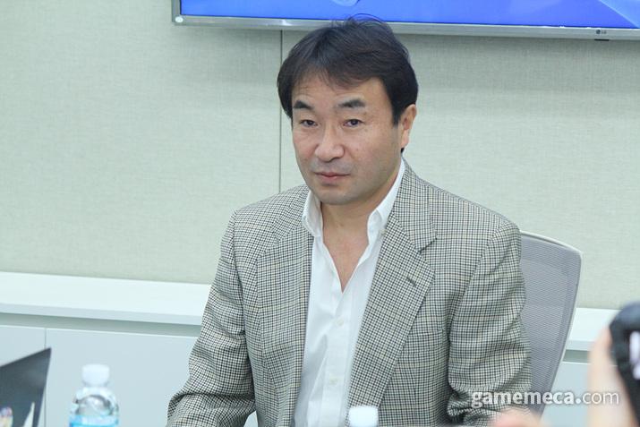SIEK 안도 테츠야 대표가 PS나우 국내 서비스에 대한 의지를 밝혔다 (사진: 게임메카 촬영)