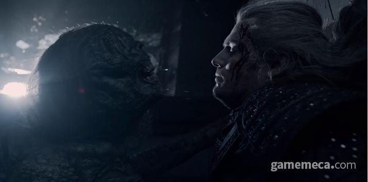괴물과의 싸움은 처절하지만 게롤트의 강력함을 잘 보여주고 있다 (사진: 게임메카 촬영)