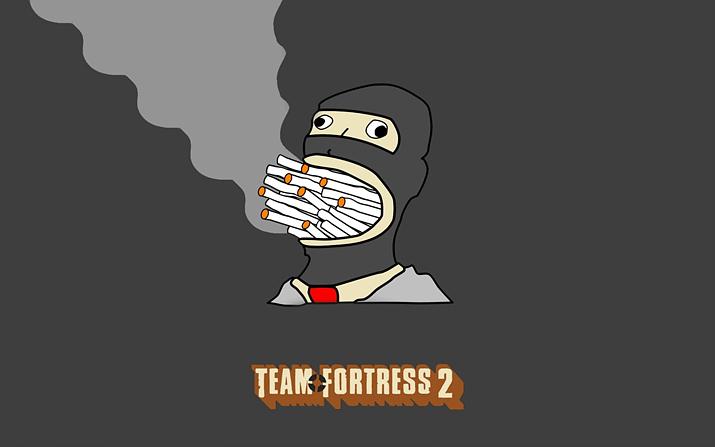 인터넷 합성 요소로까지 등극한 '담배 피는 스파이' (사진출처: 월페이퍼 플레어)