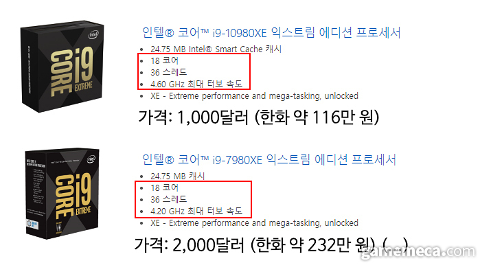 성능이 올랐는데 가격은 무려 절반 가량 저렴해졌다! (사진출처: 제품 공식 웹페이지)