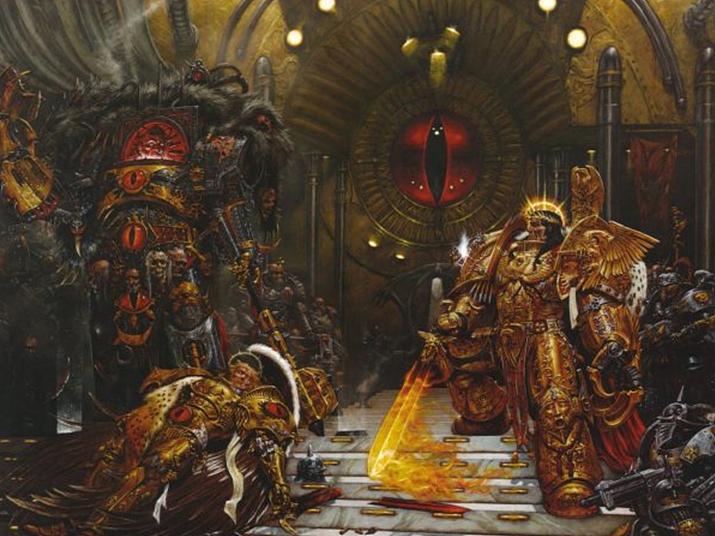 워해머40K의 초능력을 지닌 황제를 정점으로 하는 몰락해가는 제국 모티브도 듄에서 영향을 받았다 (사진출처: Warhammer 40,000: Vision)
